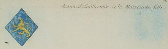Jeanne de Guillermain de la Matrouille