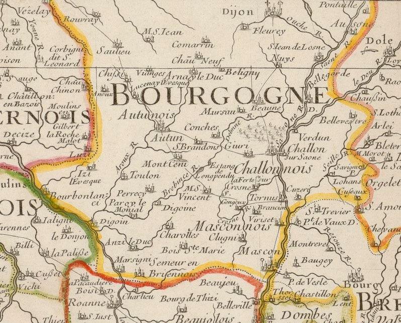 La Bourgogne en 1703 (Gallica/BnF)