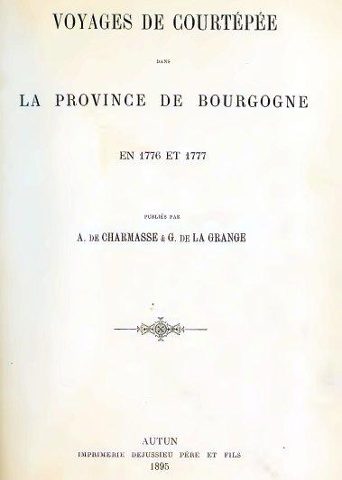 Voyages de Courtépée dans la province de Bourgogne