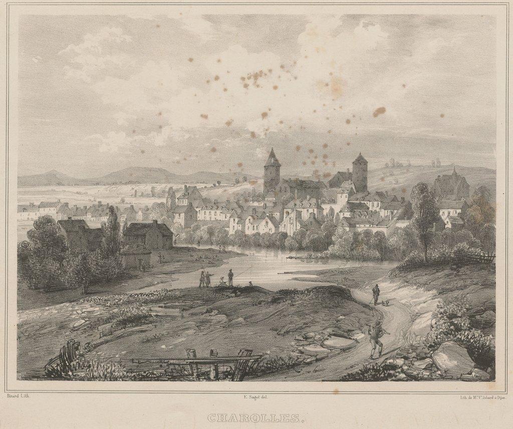 Charolles en 1835