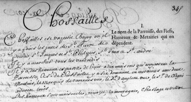 Bailliage de Mâcon en 1666, description de Chauffailles