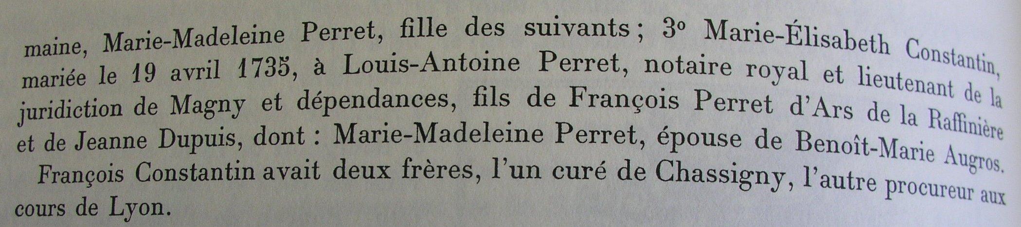 Ex-libris de François Constantin, bourgeois de St-Germain-la-Montagne, suite