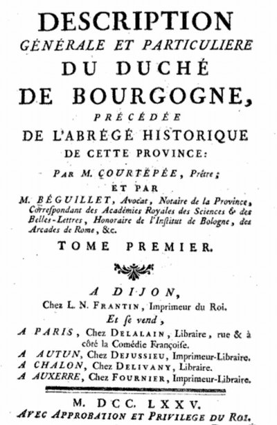 Tome I (1775) 645 pages