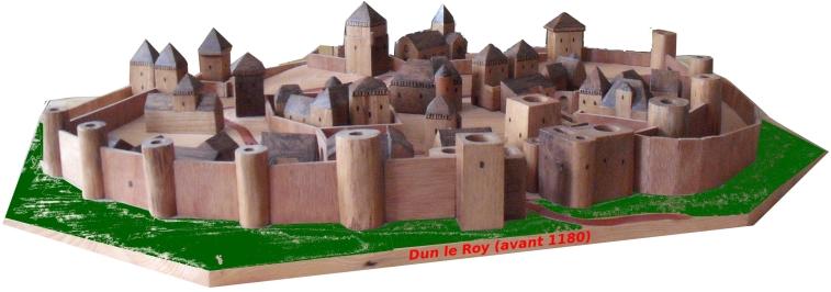 Reconstitution de Dun le Roy, maquette de Thierry Laroche de Mussy-sous-Dun