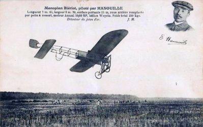 Monoplan Blériot piloté par Élie Hanouille