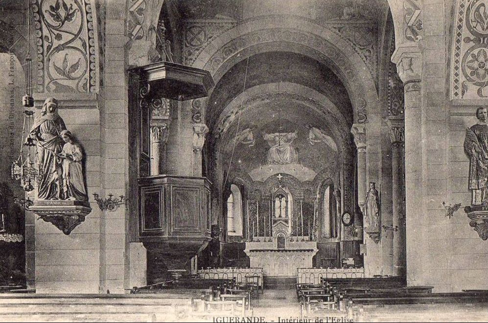 Intérieur de l'église d'Iguerande