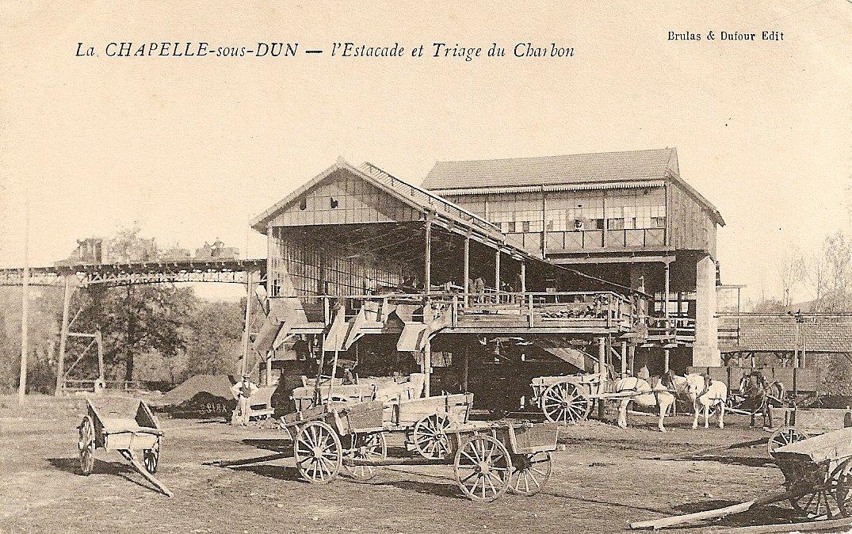 Mine de La Chapelle-sous-Dun, l'estacade