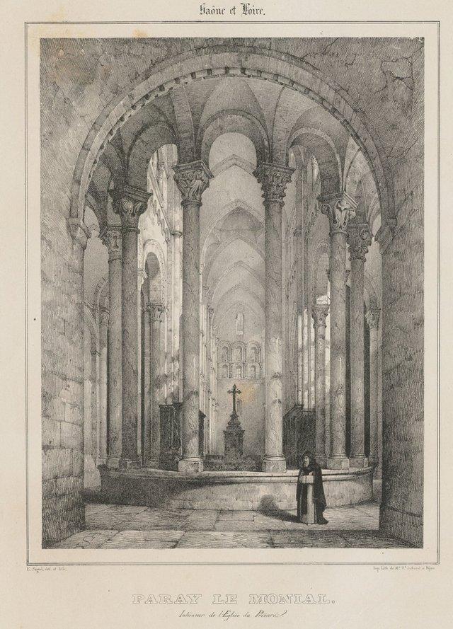 Intérieur de l'église du prieuré