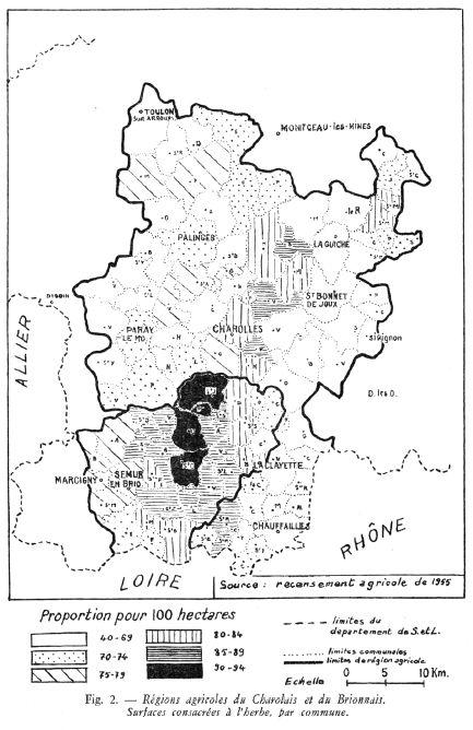 Régions agricoles du Charolais-Brionnais