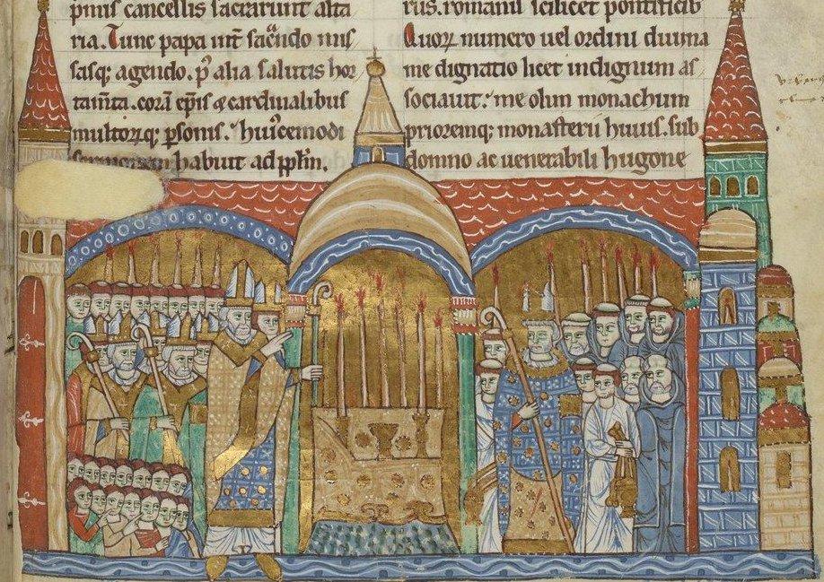 Consécration de l'autel de l'abbatiale de Cluny
