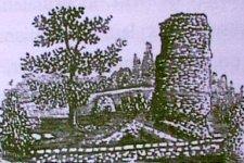 Ruines du château de Vertpré à Tancon