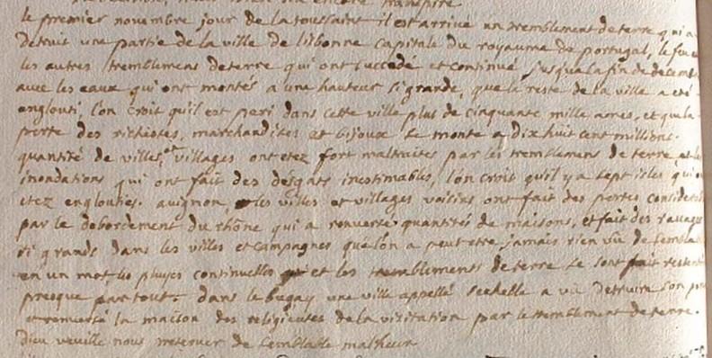Registre de Tancon en 1755