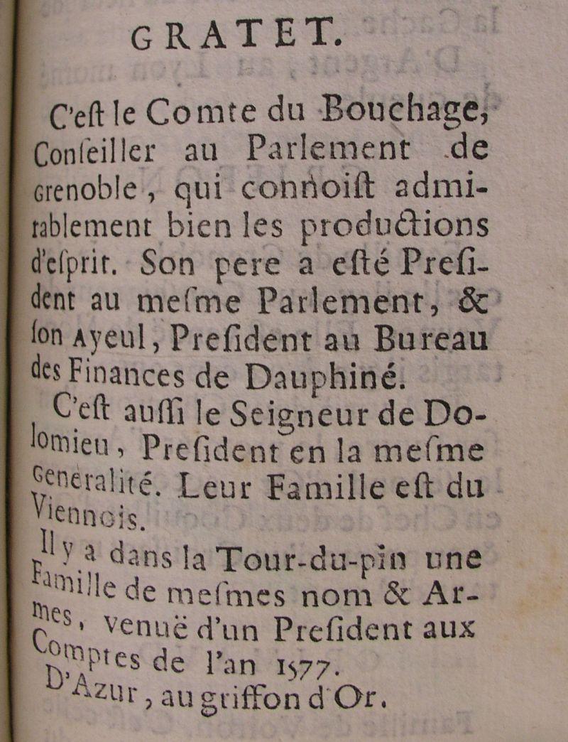 Nobiliaire du Dauphiné de Guy Allard