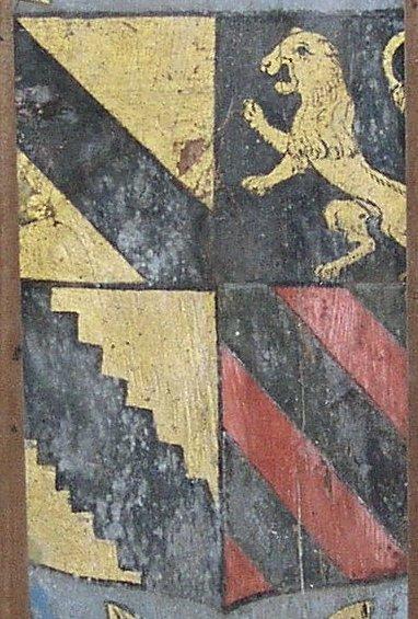 Armoiries de Laurent de Tenay et Catherine de Chauvigny de Blot
