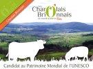 Timbre officiel de la candidature du Charolais-Brionnais au patrimoine mondial de l'UNESCO