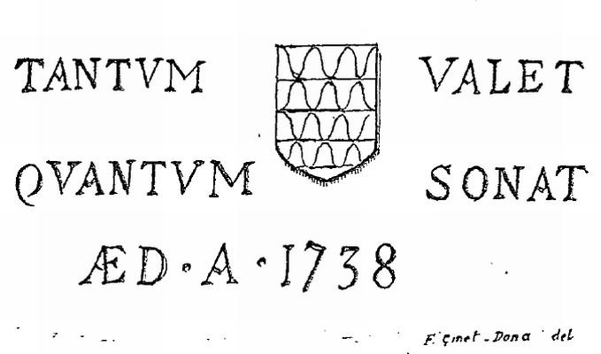 Motif du XVIIIe siècle, château de Chamron