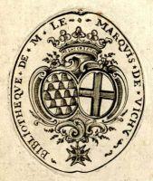 Ex-libris d'Abel-Claude-Marie, marquis de Vichy-Champrond (BM Lyon)