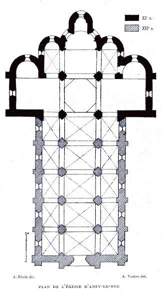 Plan de l'église d'Anzy-le-Duc