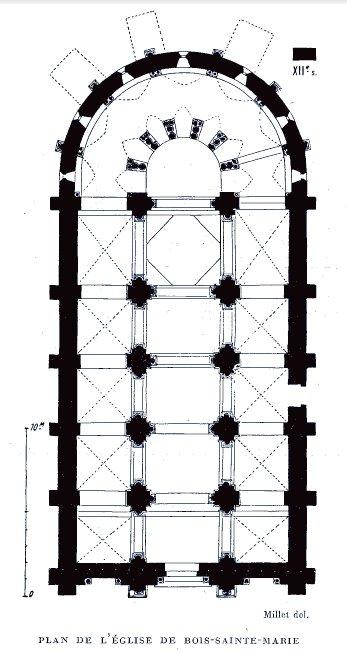 Plan de l'église de Bois-Sainte-Marie