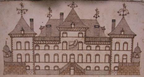 Dessin de Jérémie DE LA RUE, plans du château de Gorze
