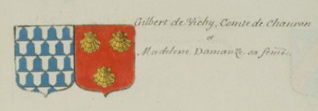 Gilbert de Vichy, comte de Chamron, et Madeleine d'Amanzé sa femme