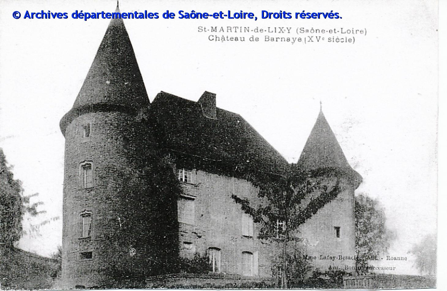 Château de Barnay (AD71)