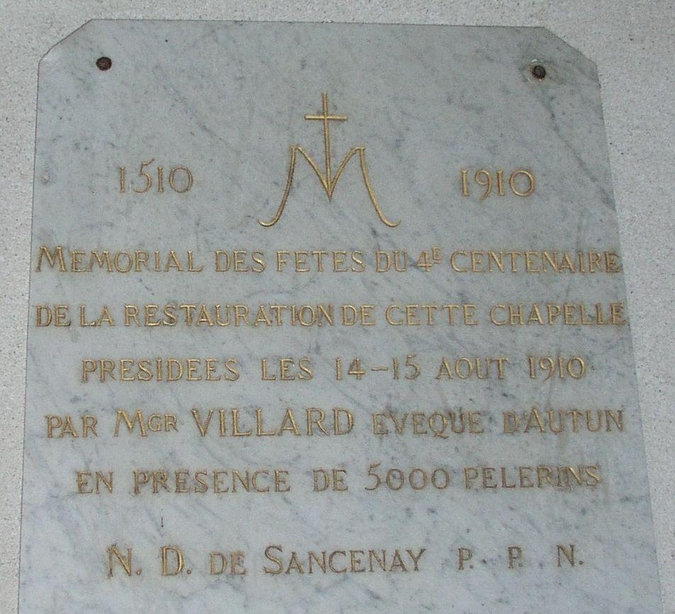 Chapelle de Sancenay à Oyé