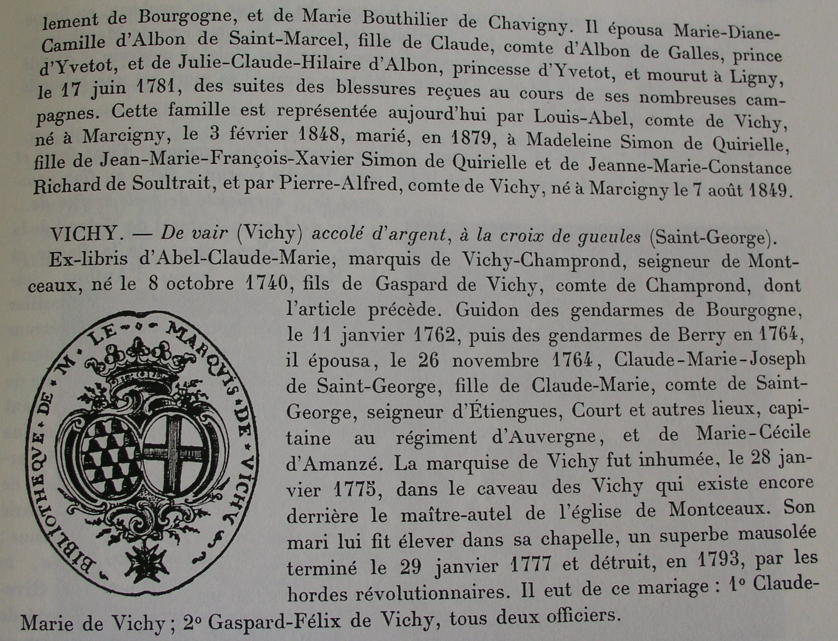Ex-libris d'Abel de Vichy